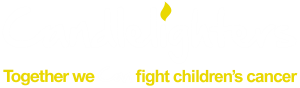 Candlelighters logo. Together we can fight children's cancer.